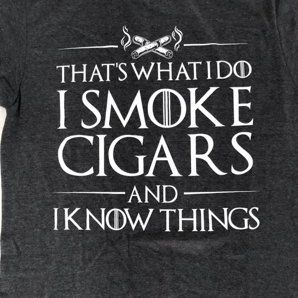 "Men's ""I Smoke Cigars..."" T shirt. Large. New"